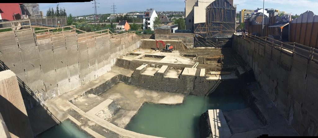 Chantier PIZNAIR, Route d'Esch à Luxembourg - Travaux de blindage, terrassement, reprise en sous-œuvre et béton de propreté