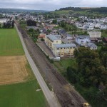 Chantier CFL – Colmar-Berg à Schieren - Vue aérienne